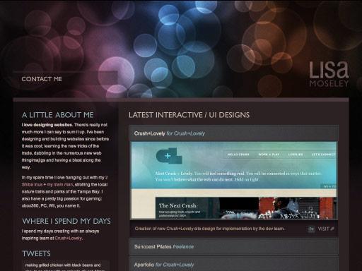 女性网页设计师 web 界面 创意 版式