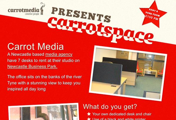 Red website showcase - Carrot Media