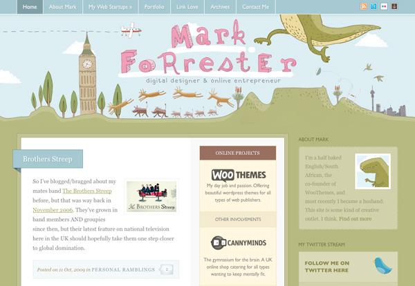 Green Website Showcase - Mark Forester