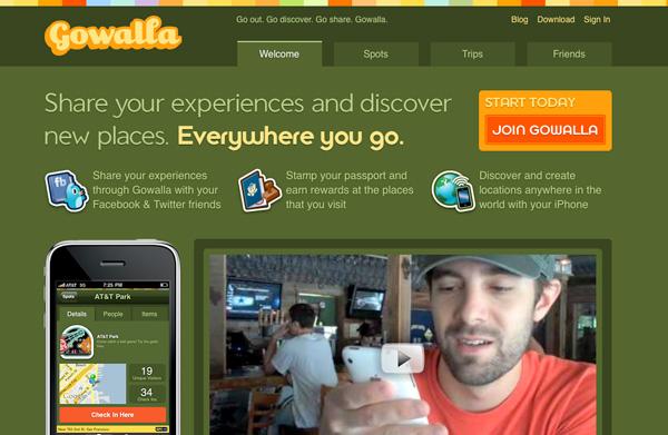 Green Website Showcase - Gowalla