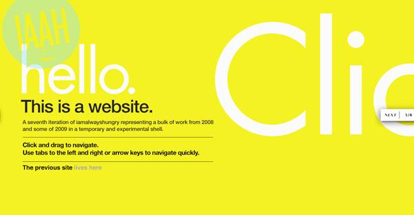 Yellow Website Showcase - I Am Always Hungry