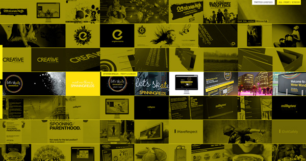 Yellow Website Showcase - Loaf Creative