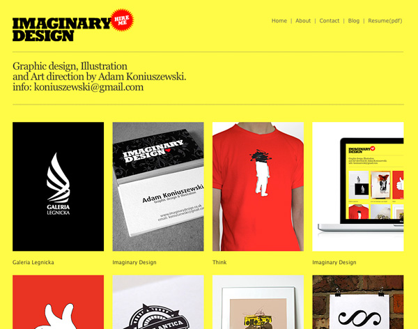 Yellow Website Showcase - Imaginary Design