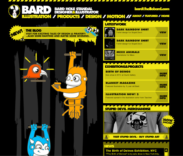Yellow Website Showcase - Bard Hole Standal