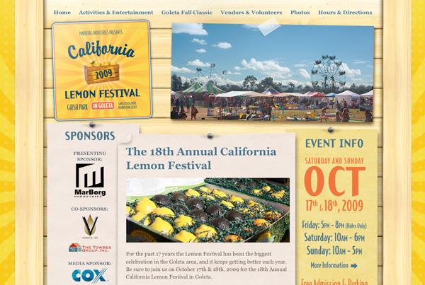 Yellow Website Showcase - Lemon Festival