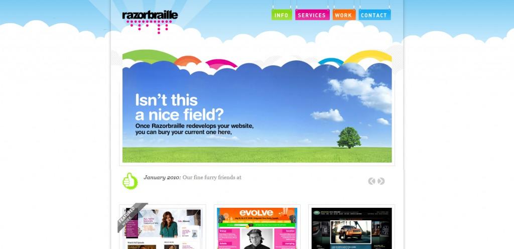 UCD博客-彩虹色彩网站设计