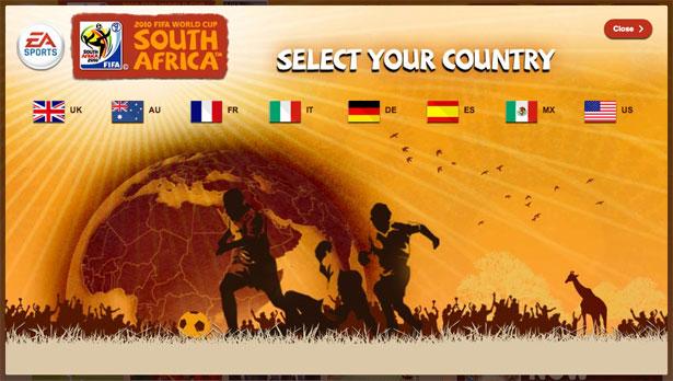 交互设计 网页设计 界面设计 2010世界杯 南非-Fifa World Cup Game