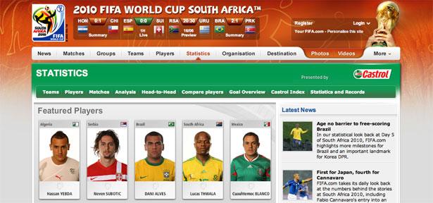 交互设计 网页设计 界面设计 2010世界杯 南非-Fifa World Cup