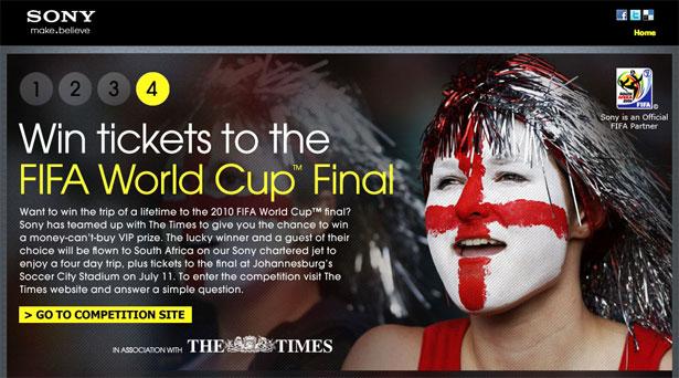 交互设计 网页设计 界面设计 2010世界杯 南非-Sony Football