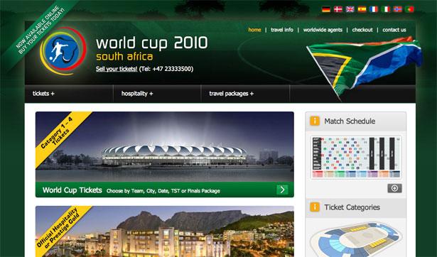 交互设计 网页设计 界面设计 2010世界杯 南非-Football World Cup