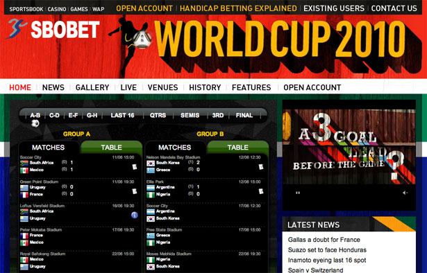 交互设计 网页设计 界面设计 2010世界杯 南非-SBO Bet World Cup