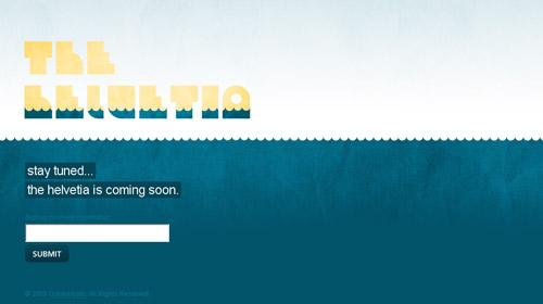 界面 交互 网站界面 网页设计-the helvetia