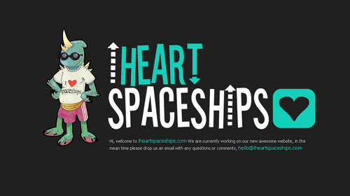 界面 交互 网站界面 网页设计-i heart spaceships