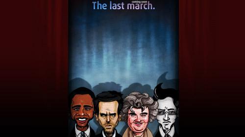 界面 交互 网站界面 网页设计-the last march