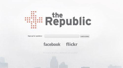界面 交互 网站界面 网页设计-we are the republic