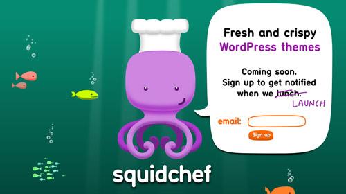 界面 交互 网站界面 网页设计-squid chef