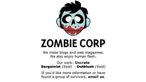 界面 交互 网站界面 网页设计-zombie corp