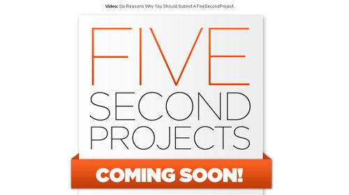 界面 交互 网站界面 网页设计-five second projects